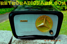 Load image into Gallery viewer, SOLD! - July 12, 2016 - BLUETOOTH MP3 READY - SO JETSONS LOOKING Retro Vintage AQUA and BLACK 1959 Musicaire MD300 AM Tube Radio WORKS! - [product_type} - Travler - Retro Radio Farm