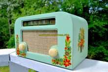 Load image into Gallery viewer, SOLD! - Sept 1, 2017 - COUNTRY COTTAGE Green 1940 Motorola 55x15 Tube AM Radio Original Factory Decals Excellent Condition!