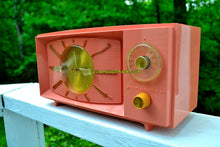 Load image into Gallery viewer, SOLD! - Aug 4, 2017 - ROSE PINK Mid Century Retro 1959 Westinghouse Model H545T5A Tube AM Clock Radio Totally Restored! - [product_type} - Westinghouse - Retro Radio Farm
