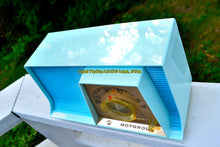Load image into Gallery viewer, SOLD! - July 4, 2017 - TUXEDO BLUE Mid Century Retro 1962 Motorola A17B3 Tube AM Radio Cool Model Rare Color! Near Mint! - [product_type} - Motorola - Retro Radio Farm