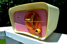 Load image into Gallery viewer, SOLD! - Oct 11, 2017 - SO JETSONS LOOKING Retro Vintage Pink and White 1959 Travler T204 AM Tube Radio So Cute! - [product_type} - Travler - Retro Radio Farm