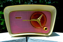 Load image into Gallery viewer, SOLD! - Oct 11, 2017 - SO JETSONS LOOKING Retro Vintage Pink and White 1959 Travler T204 AM Tube Radio So Cute!