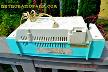 Load image into Gallery viewer, SOLD! - Sept. 29, 2014 - STUNNING AQUA BLUE Retro Jetsons 1957 Magnavox C5 Tube AM Clock Radio WORKS! , Vintage Radio - Magnavox, Retro Radio Farm  - 11