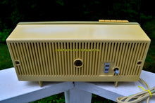 Load image into Gallery viewer, SOLD! - Sept 18, 2018 - BLUETOOTH MP3 UPGRADE ADDED - Light Olive Retro Jetsons 1960 Motorola 5C23GW Tube AM Clock Radio Rare Color and Beautiful! - [product_type} - Motorola - Retro Radio Farm