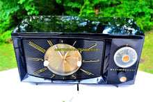 Load image into Gallery viewer, SOLD! - Sept 5, 2017 - BLACK ONYX Century Retro 1959 Westinghouse Model H-546T5A Tube AM Clock Radio Totally Restored! - [product_type} - Westinghouse - Retro Radio Farm