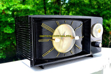 Load image into Gallery viewer, SOLD! - Sept 5, 2017 - BLACK ONYX Century Retro 1959 Westinghouse Model H-546T5A Tube AM Clock Radio Totally Restored!