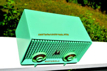 Load image into Gallery viewer, SOLD! - Dec 9, 2017 - SEA GREEN  Mid Century Vintage Motorola Model 56R Sea Green 1957 AM Tube Radio Rare! Works Great and Excellent Condition! - [product_type} - Motorola - Retro Radio Farm