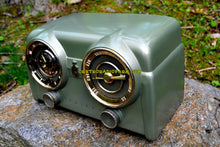 Load image into Gallery viewer, SOLD! - May 15, 2017 - PALMETTO GREEN METALLIC 1951 Crosley Model 11-125GN AM Tube Clock Radio Quality Construction Sounds Great! - [product_type} - Crosley - Retro Radio Farm