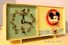 Load image into Gallery viewer, SOLD! - February 19, 2014 - MICKEY MOUSE Vintage 1960 General Electric C2419A Tube AM Radio Clock Alarm - [product_type} - Admiral - Retro Radio Farm