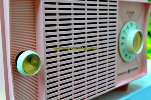 SOLD! - July 24, 2017 - BLUETOOTH MP3 READY - Powder Pink Mid Century Vintage 1959 General Electric Model T-125A Tube Radio Sounds Great! - [product_type} - General Electric - Retro Radio Farm