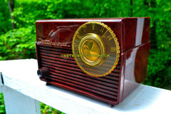 SOLD! - June 19, 2017 - MOCHA MARBLE SWIRL Retro Vintage 1953 Westinghouse H-783T5 AM Tube Radio Sounds Great!