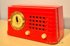 SOLD! - Feb 27, 2014 - STUNNING CARDINAL RED Bakelite 1948 Telechron Model 8H59 Clock Radio Works! , Vintage Radio - Admiral, Retro Radio Farm  - 4