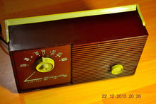 Load image into Gallery viewer, SOLD! - Jan 11, 2014 - RETRO Burgundy Vintage Portable AM 1956 Silvertone 7404 AM Tube Radio Works! - [product_type} - Admiral - Retro Radio Farm
