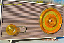 Load image into Gallery viewer, MAUVE TAN and WHITE Retro Jetsons Vintage 1958 RCA 1-RA-36 AM Tube Radio WORKS! , Vintage Radio - RCA Victor, Retro Radio Farm  - 4