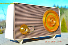 Load image into Gallery viewer, MAUVE TAN and WHITE Retro Jetsons Vintage 1958 RCA 1-RA-36 AM Tube Radio WORKS! , Vintage Radio - RCA Victor, Retro Radio Farm  - 1