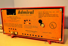 Load image into Gallery viewer, SOLD! - June 17, 2014 - LIPSTICK RED Vintage Atomic Age 1955 Admiral 5S38 Tube AM Radio Clock Alarm , Vintage Radio - Admiral, Retro Radio Farm  - 8