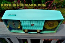 Load image into Gallery viewer, SOLD! - Sept. 29, 2014 - STUNNING AQUA BLUE Retro Jetsons 1957 Magnavox C5 Tube AM Clock Radio WORKS! , Vintage Radio - Magnavox, Retro Radio Farm  - 4