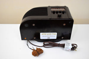 Streamlined Swirly Brown Art Deco Bakelite Admiral Model 398-6M Vacuum Tube AM Radio Killer Reception So Gorgeous!
