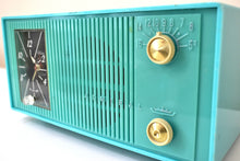 Load image into Gallery viewer, Turquoise 1959 Admiral Model Y865C Vacuum Tube AM Radio Sounds Great! Looks Great!