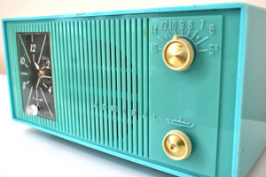 Turquoise 1959 Admiral Model Y865C Vacuum Tube AM Radio Sounds Great! Looks Great!