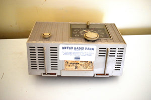Aspen Gray 1964 Admiral Model YRC-517 Mid Century Vacuum Tube AM Clock Radio Sounds Great! Excellent Condition!
