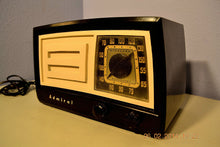 Load image into Gallery viewer, SOLD! - March 14, 2014 - BEAUTIFUL Retro Vintage Black Ivory 1951 Admiral 5J21N Tube AM Radio WORKS! , Vintage Radio - Admiral, Retro Radio Farm  - 1