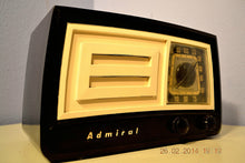 Load image into Gallery viewer, SOLD! - March 14, 2014 - BEAUTIFUL Retro Vintage Black Ivory 1951 Admiral 5J21N Tube AM Radio WORKS! , Vintage Radio - Admiral, Retro Radio Farm  - 6