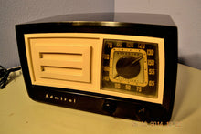 Load image into Gallery viewer, SOLD! - March 14, 2014 - BEAUTIFUL Retro Vintage Black Ivory 1951 Admiral 5J21N Tube AM Radio WORKS! , Vintage Radio - Admiral, Retro Radio Farm  - 2