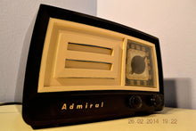Load image into Gallery viewer, SOLD! - March 14, 2014 - BEAUTIFUL Retro Vintage Black Ivory 1951 Admiral 5J21N Tube AM Radio WORKS! , Vintage Radio - Admiral, Retro Radio Farm  - 3