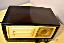 Load image into Gallery viewer, SOLD! - March 14, 2014 - BEAUTIFUL Retro Vintage Black Ivory 1951 Admiral 5J21N Tube AM Radio WORKS! , Vintage Radio - Admiral, Retro Radio Farm  - 10