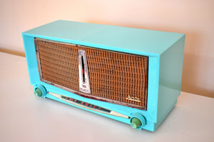 Seafoam Blue 1956 Arvin Model 956T AM Vacuum Tube Radio Sci Fi Dashboard Excellent Plus Condition!