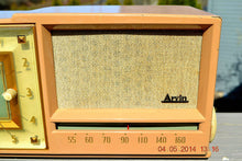 Load image into Gallery viewer, SOLD! - Sept 14, 2014 - BEAUTIFUL SANDY TAN Retro Space Age 1956 Arvin Tube AM Clock Radio WORKS! , Vintage Radio - Arvin, Retro Radio Farm  - 5