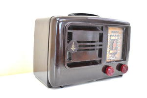Bluetooth Ready To Go -  Umber Brown Bakelite 1940 Emerson Model 336 AM Vacuum Tube Radio Sounds Marvelous!