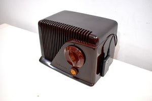 Bluetooth Ready To Go - Brown Bakelite Vintage 1948 Silvertone Model 9000 AM Vacuum Tube Radio
