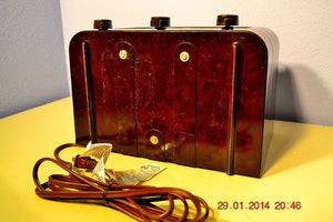 SOLD! - Oct 31, 2014 - BEAUTIFUL PRISTINE Rare Art Deco Retro 1946-48 BRANDES AM Tube Radio Works! Wow! , Vintage Radio - Brandes, Retro Radio Farm  - 11
