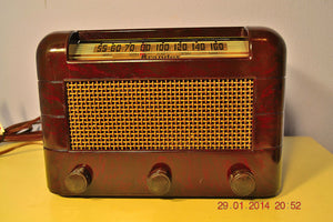 SOLD! - Oct 31, 2014 - BEAUTIFUL PRISTINE Rare Art Deco Retro 1946-48 BRANDES AM Tube Radio Works! Wow! , Vintage Radio - Brandes, Retro Radio Farm  - 3