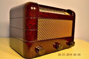SOLD! - Oct 31, 2014 - BEAUTIFUL PRISTINE Rare Art Deco Retro 1946-48 BRANDES AM Tube Radio Works! Wow! , Vintage Radio - Brandes, Retro Radio Farm  - 2