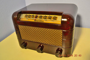 SOLD! - Oct 31, 2014 - BEAUTIFUL PRISTINE Rare Art Deco Retro 1946-48 BRANDES AM Tube Radio Works! Wow! , Vintage Radio - Brandes, Retro Radio Farm  - 4