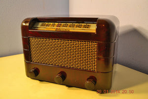 SOLD! - Oct 31, 2014 - BEAUTIFUL PRISTINE Rare Art Deco Retro 1946-48 BRANDES AM Tube Radio Works! Wow! , Vintage Radio - Brandes, Retro Radio Farm  - 5