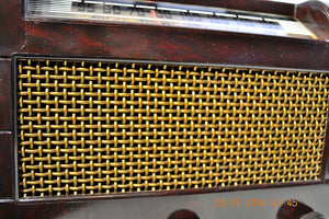 SOLD! - Oct 31, 2014 - BEAUTIFUL PRISTINE Rare Art Deco Retro 1946-48 BRANDES AM Tube Radio Works! Wow! , Vintage Radio - Brandes, Retro Radio Farm  - 8