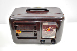 Bluetooth Ready To Go - Mocha Brown Bakelite 1946 Emerson Model 507 AM Tube Radio Golden Age of Radio Sound!