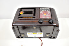 Load image into Gallery viewer, Bluetooth Ready To Go - Mocha Brown Bakelite 1946 Emerson Model 507 AM Tube Radio Golden Age of Radio Sound!