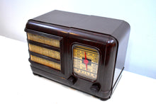 Load image into Gallery viewer, Marble Swirly Brown Bakelite Vintage 1941 Philco Model PT-30 AM Vacuum Tube Radio Excellent+ Condition!