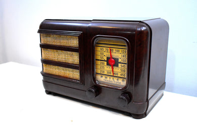 Marble Swirly Brown Bakelite Vintage 1941 Philco Model PT-30 AM Vacuum Tube Radio Excellent+ Condition!