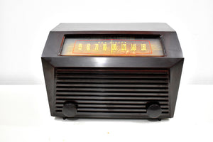 Edgy Looking Brown Bakelite 1949 RCA Victor Model 9-X-641 Vacuum Tube AM Radio Looks Great! Sounds Wonderful!