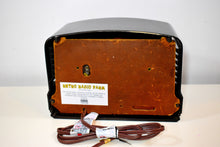 Load image into Gallery viewer, Gilded Age Black Bakelite 1941 Airline 14BR-525A AM Vacuum Tube AM Radio Excellent+ Condition!