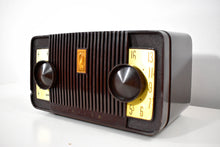 Load image into Gallery viewer, Cocoa Philco Mid Century Vintage 1954 Model C581 AM Vacuum Tube Radio Sounds Great!