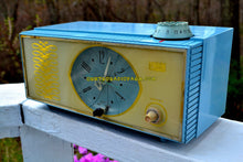 Load image into Gallery viewer, SOLD! - July 8, 2018 - WEDGEWOOD BLUE Retro Mid Century Vintage 1965 Arvin Model 53R05 AM Tube Clock Radio Works Great Looks Great! - [product_type} - Arvin - Retro Radio Farm