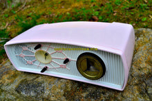 Load image into Gallery viewer, SOLD! - June 15, 2017 - JUDY Jetson Pink Mid Century Retro Antique 1957 Philips Model B1C12U AM Tube Clock Radio Totally Restored and Rare As Can Be! - [product_type} - Philips - Retro Radio Farm