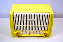 Load image into Gallery viewer, SOLD! - Oct. 25, 2018 - Lemon Yellow 1955 Granco Model 7TAF AM/FM Tube Antique Radio Extremely Rare and Sounds Great! - [product_type} - Granco - Retro Radio Farm